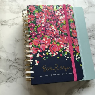 The medium Ban.do agenda is larger than the medium Lilly Pulitzer agenda.